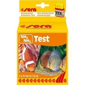 Тест SERA NH4/NH3-Test Ammonium / Ammonia-Test на содержание аммония и аммиака для воды в аквариуме 3х15мл