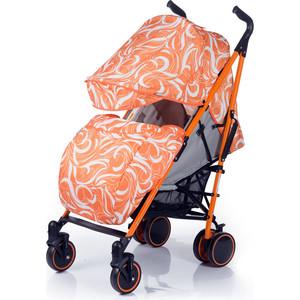 Купить со скидкой Коляска трость BabyHit Handy Бело-оранжевая