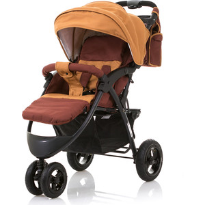 Коляска прогулочная BabyHit Voyage AIR коричневый прогулочная коляска rant voyage jeans blue