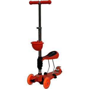 цены Самокат 3-х колесный BabyHit ScooterOK Tolocar оранжевый