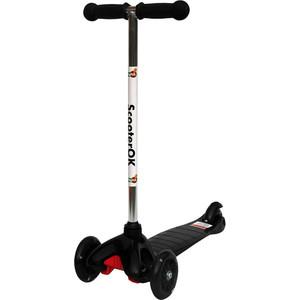 Самокат 3-х колесный BabyHit ScooterOK черный цена