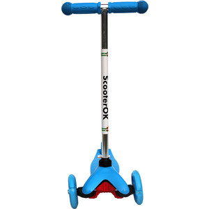 Самокат 3-х колесный BabyHit ScooterOK синий цена