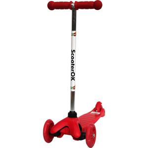 цена на Самокат 3-х колесный BabyHit ScooterOK красный