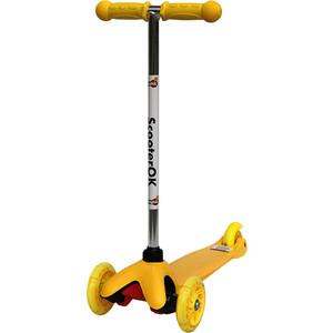 Самокат 3-х колесный BabyHit ScooterOK желтый