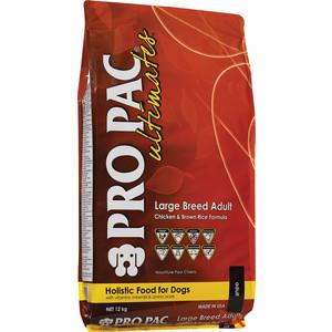 Сухой корм PRO PAC Ultimates Large Breed Adult Holistic Chicken & Brown Rice Formula с курицей и коричневым рисом для собак крупных пород 12кг