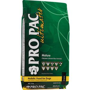 Сухой корм PRO PAC Ultimates Mature Holistic Chicken & Brown Rice Formula с курицей и коричневым рисом для пожилых собак 12кг