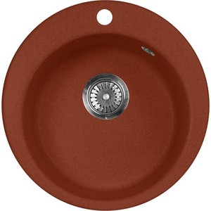 купить Кухонная мойка AquaGranitEx M-05 (334) красный марс дешево