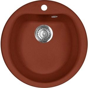 Кухонная мойка AquaGranitEx M-07 (334) красный марс кухонная мойка aquagranitex m 56 334 красный марс