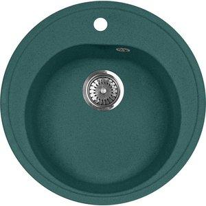 Кухонная мойка AquaGranitEx M-08 (305) зеленый