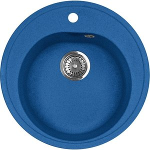 Кухонная мойка AquaGranitEx M-08 (323) синий цена и фото