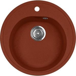 Кухонная мойка AquaGranitEx M-08 (334) красный марс цена и фото