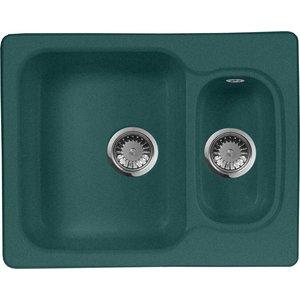 Кухонная мойка AquaGranitEx M-09 (305) зеленый