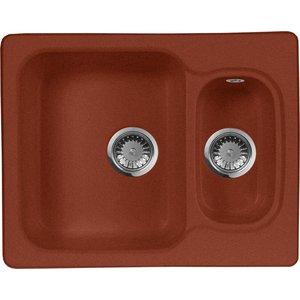 купить Кухонная мойка AquaGranitEx M-09 (334) красный марс дешево
