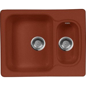 Кухонная мойка AquaGranitEx M-09 (334) красный марс