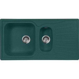 Кухонная мойка AquaGranitEx M-09K (305) зеленый