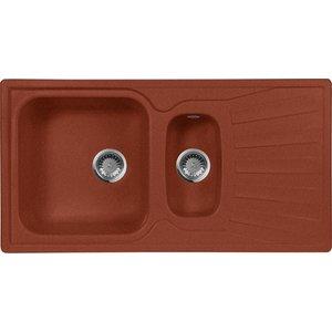 Кухонная мойка AquaGranitEx M-09K (334) красный марс цена и фото