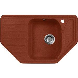 купить Кухонная мойка AquaGranitEx M-10 (334) красный марс дешево