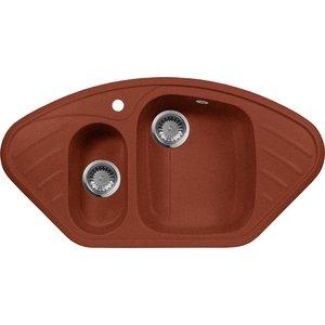 Кухонная мойка AquaGranitEx M-14 (334) красный марс цена и фото