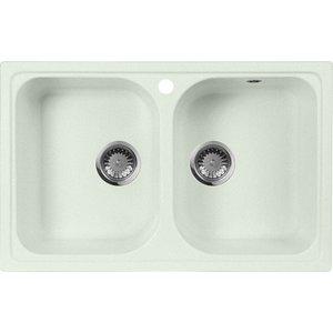 Кухонная мойка AquaGranitEx M-15 (303) салатовый