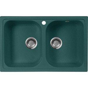 Кухонная мойка AquaGranitEx M-15 (305) зеленый