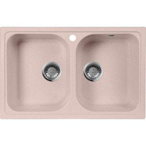 Кухонная мойка AquaGranitEx M-15 (315) розовый