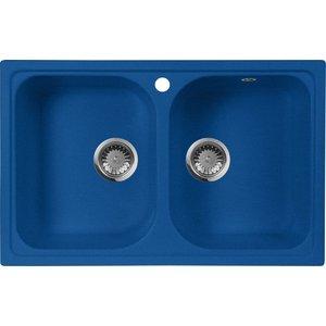 Кухонная мойка AquaGranitEx M-15 (323) синий