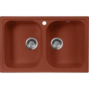 купить Кухонная мойка AquaGranitEx M-15 (334) красный марс дешево