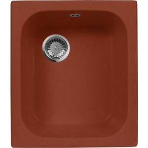 Кухонная мойка AquaGranitEx M-17 (334) красный марс цена и фото