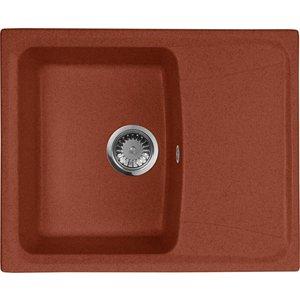 Кухонная мойка AquaGranitEx M-17K (334) красный марс цена и фото