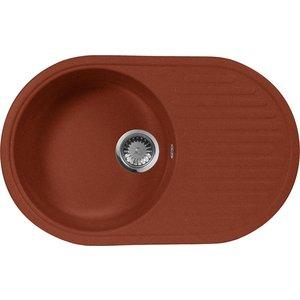 Кухонная мойка AquaGranitEx M-18 (334) красный марс цена и фото
