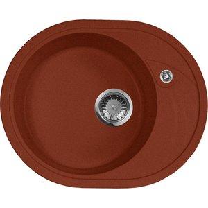Кухонная мойка AquaGranitEx M-18L (334) красный марс цена и фото