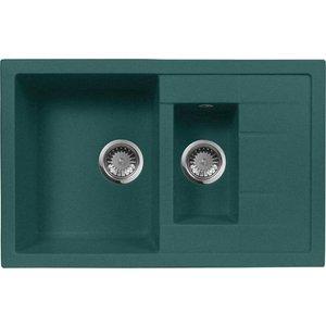 Кухонная мойка AquaGranitEx M-21K (305) зеленый