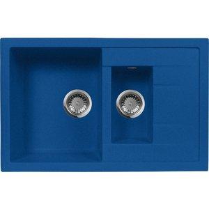 Кухонная мойка AquaGranitEx M-21K (323) синий мойка кухонная aquagranitex m 21k 780х500 бежевый m 21k 328