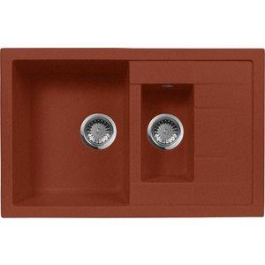 купить Кухонная мойка AquaGranitEx M-21K (334) красный марс дешево