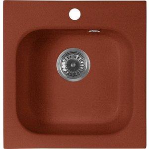 Кухонная мойка AquaGranitEx M-43 (334) красный марс цена и фото