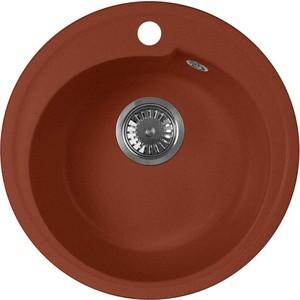 Кухонная мойка AquaGranitEx M-45 (334) красный марс кухонная мойка aquagranitex m 56 334 красный марс