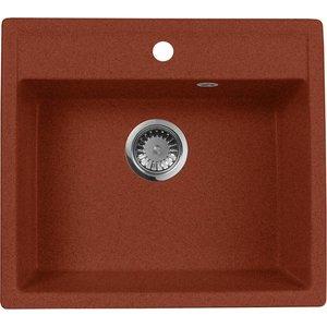 Кухонная мойка AquaGranitEx M-56 (334) красный марс кухонная мойка aquagranitex m 56 334 красный марс