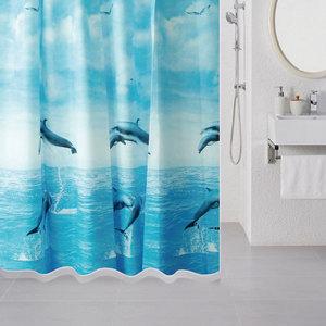 Штора для ванной Milardo Dolphins 180x180 см (519V180M11)
