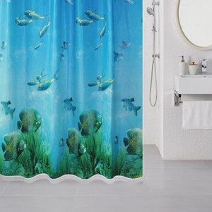 лучшая цена Штора для ванной Milardo Underwater 180x180 см (518V180M11)
