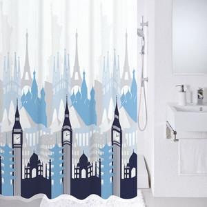 Штора для ванной Milardo Travel memories 180x200 см (780P180M11)