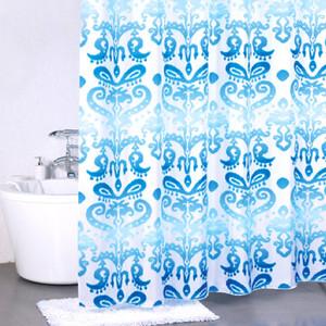 Штора для ванной Milardo Turkush blue 180x200 см (920P180M11) шторка для ванной комнаты milardo turkish blue 920p180m11