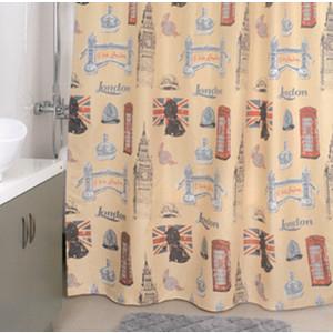 Штора для ванной Milardo British signs 180x200 см (870P180M11) цена