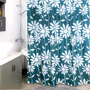 Штора для ванной Milardo Flowers blue 180x200 см (950P180M11)