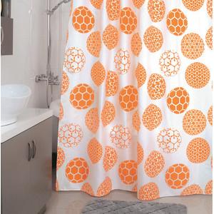 Штора для ванной Milardo Orange Dots 180x200 см (850P180M11) цена