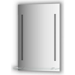 Зеркало с полкой Evoform Ledline-S с 2-мя светильниками 11 W 50x75 см (BY 2160) зеркало evoform ledline 70х75 см с 2 мя встроенными led светильниками 10 5 w by 2116