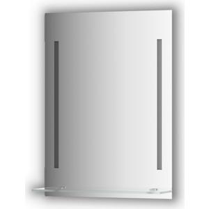 Зеркало с полкой Evoform Ledline-S с 2-мя светильниками 11 W 55x75 см (BY 2161) зеркало evoform ledline 70х75 см с 2 мя встроенными led светильниками 10 5 w by 2116