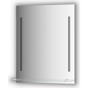 Зеркало с полкой Evoform Ledline-S 2-мя светильниками 11 W 60x75 см (BY 2162)