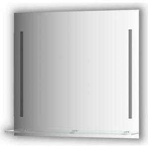 Зеркало с полкой Evoform Ledline-S с 2-мя светильниками 11 W 80x75 см (BY 2164)