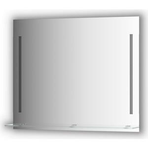 Зеркало с полкой Evoform Ledline-S с 2-мя светильниками 11 W 90x75 см (BY 2165) зеркало evoform ledline 70х75 см с 2 мя встроенными led светильниками 10 5 w by 2116