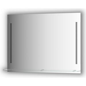 Зеркало с полкой Evoform Ledline-S с 2-мя светильниками 11 W 100x75 см (BY 2166)